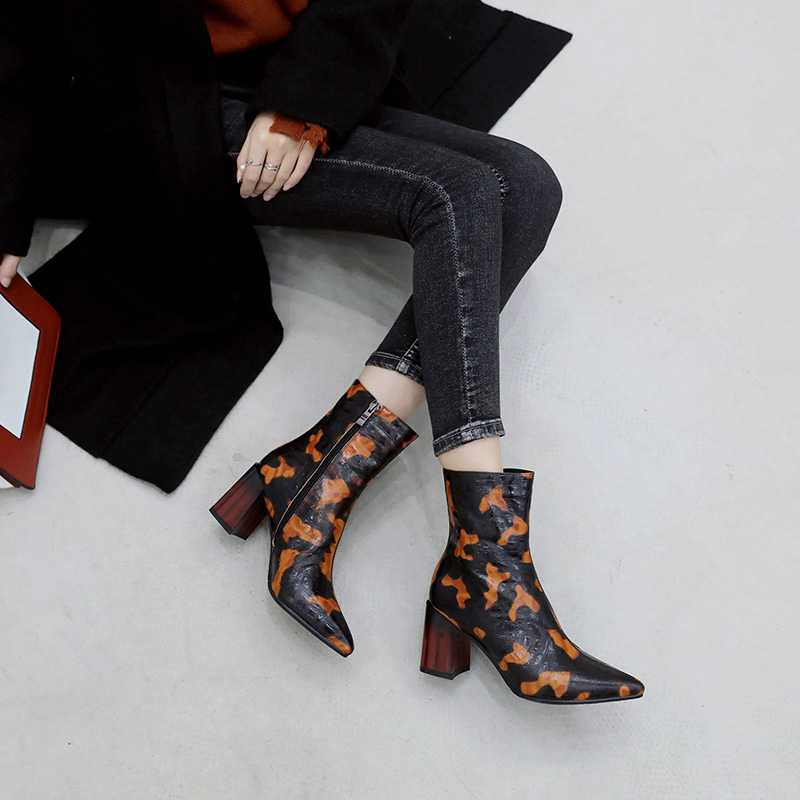 5927f463abe8 Pointed Toe Gladiator Print Ankle Booties—Regular price 96.00 USD