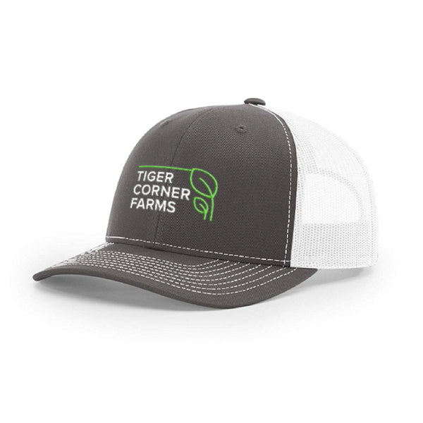 Tiger Corner Farms Structured Trucker Hat – Gray