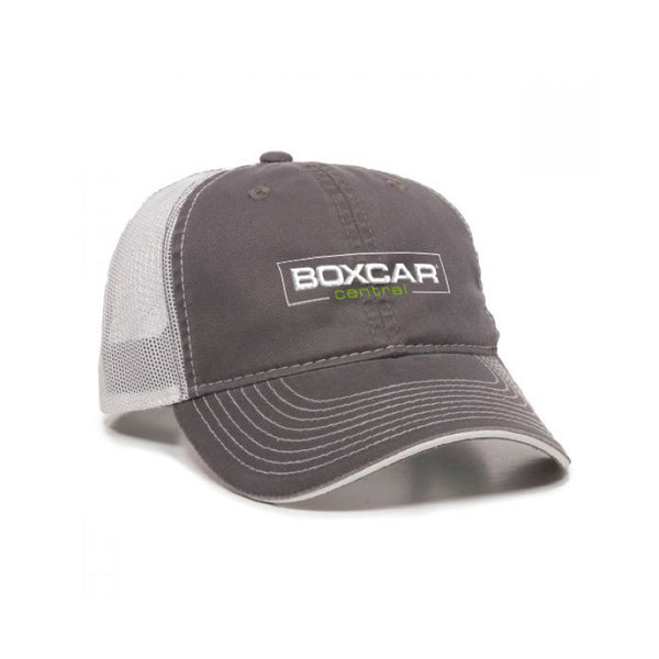 Boxcar Central Unstructured Trucker Hat – Gray