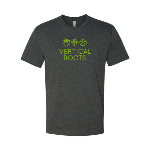Vertical Roots T-Shirt – Charcoal