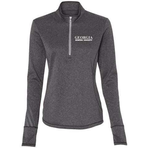 Georgia Dental Society (GDS) A275 Adidas Ladies' Terry Heather 1/4 Zip