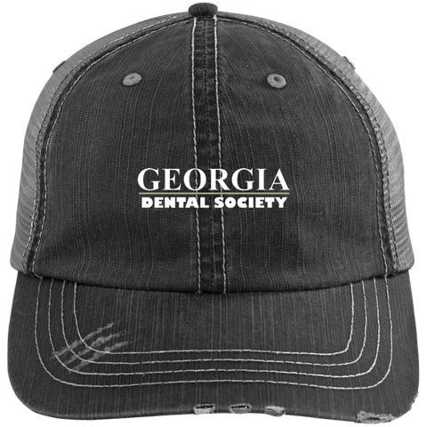 Georgia Dental Society (GDS) 6990 Distressed Unstructured Trucker Cap