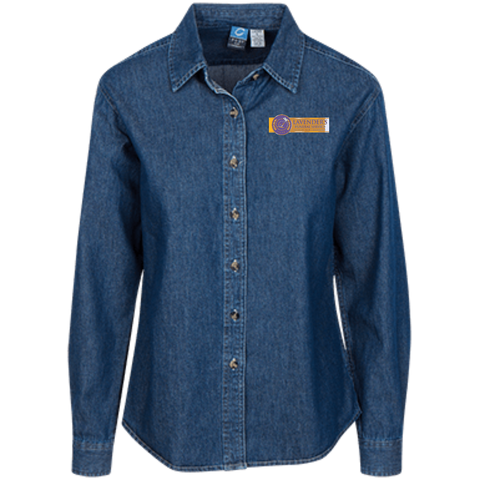 Lavenders Funeral Service LSP10 Port Authority Women's LS Denim Shirt