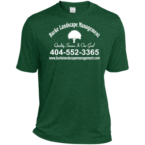 Burke Landscape Management TST360 Sport-Tek Tall Heather Dri-Fit Moisture-Wicking T-Shirt