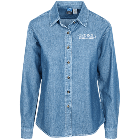 Georgia Dental Society (GDS) LSP10 Port Authority Women's LS Denim Shirt