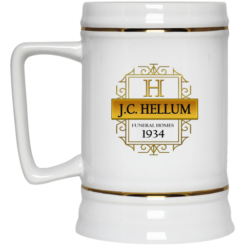 J.C. Hellum Funeral Homes 22217 Beer Stein 22oz.