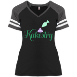 Kakestry DM476 Disctrict Ladies' Game V-Neck T-Shirt