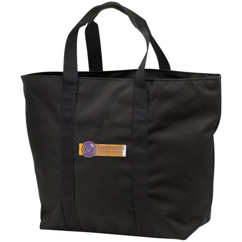 Lavenders Funeral Service B5000 Port & Co. All Purpose Tote Bag
