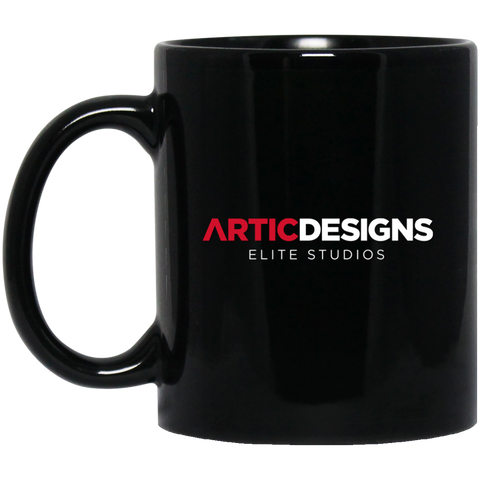 Artic Designs BM11OZ 11 oz. Black Mug