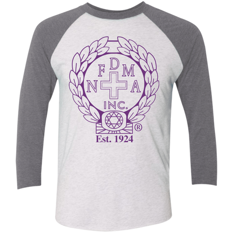 NFD&MA NL6051 Next Level Tri-Blend 3/4 Sleeve Baseball Raglan T-Shirt