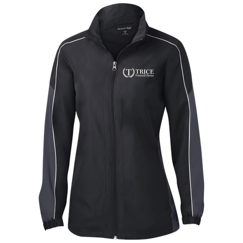 Trice Funeral Home LST61 Sport-Tek Ladies' Piped Colorblock Windbreaker