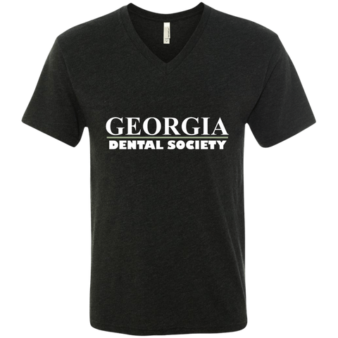 Georgia Dental Society (GDS) NL6040 Next Level Men's Triblend V-Neck T-Shirt