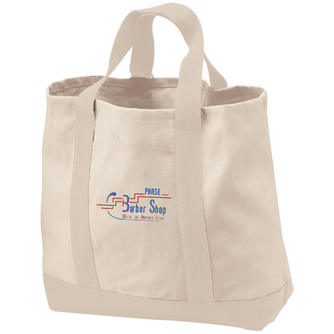 Phase 3 BarberShop B400 Port & Co. 2-Tone Shopping Tote