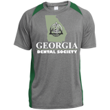 Georgia Dental Society (GDS) ST361 Sport-Tek Heather Colorblock Poly T-Shirt