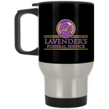 Lavenders Funeral Service XP8400S Silver Stainless Travel Mug