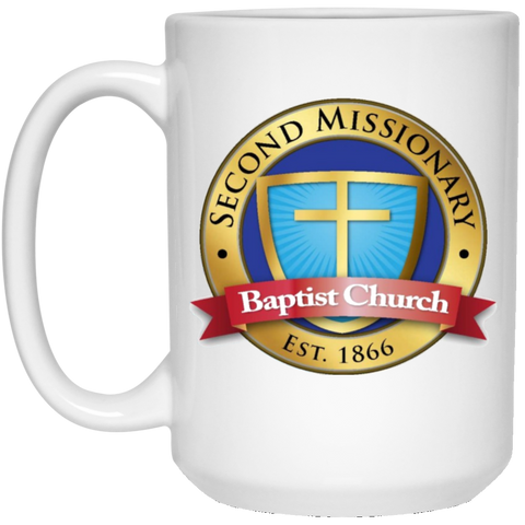 Second Missionary Baptist Church 21504 15 oz. White Mug