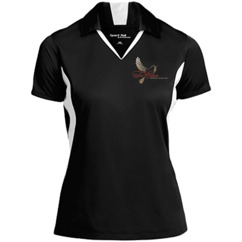 Tri-Cities Funeral Home LST655 Sport-Tek Ladies' Colorblock Performance Polo