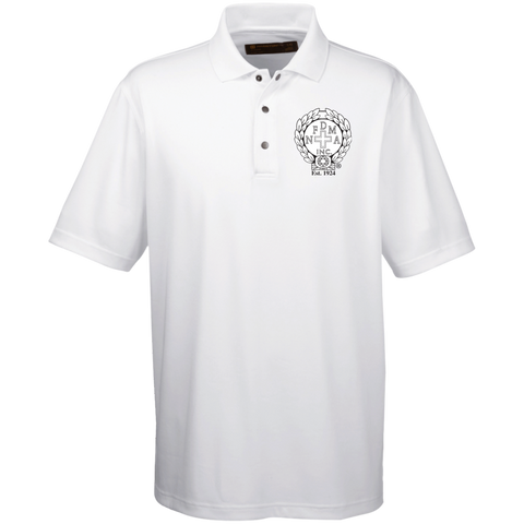 NFD&MA M345 Harriton Men's Snap Placket Performance Polo