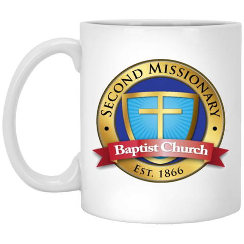 Second Missionary Baptist Church XP8434 11 oz. White Mug