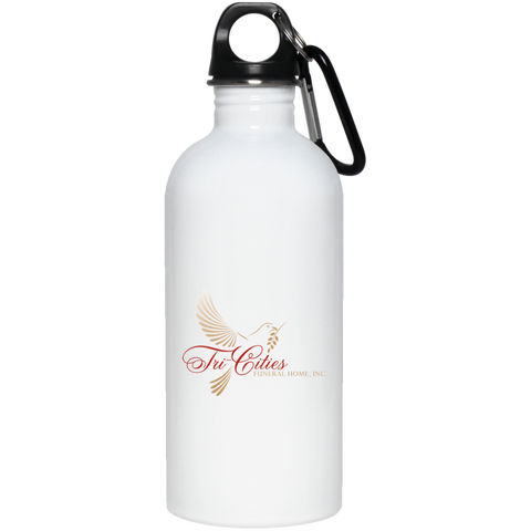 Tri-Cities Funeral Home 23663 20 oz. Stainless Steel Water Bottle