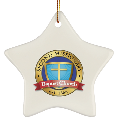 Second Missionary Baptist Church SUBORNS Ceramic Star Ornament