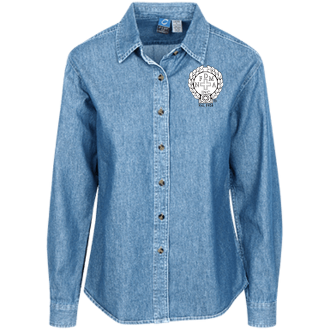 NFD&MA LSP10 Port Authority Women's LS Denim Shirt