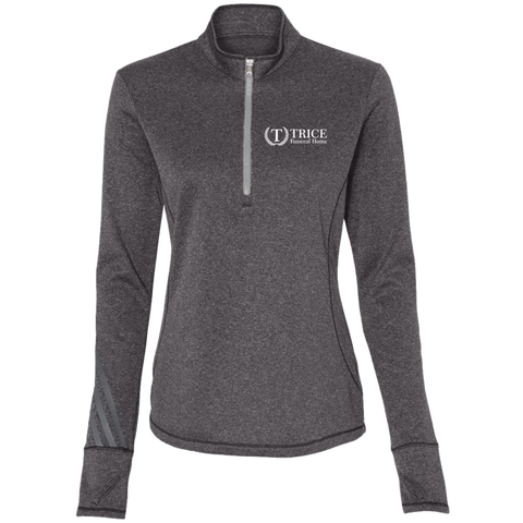 Trice Funeral Home A275 Adidas Ladies' Terry Heather 1/4 Zip