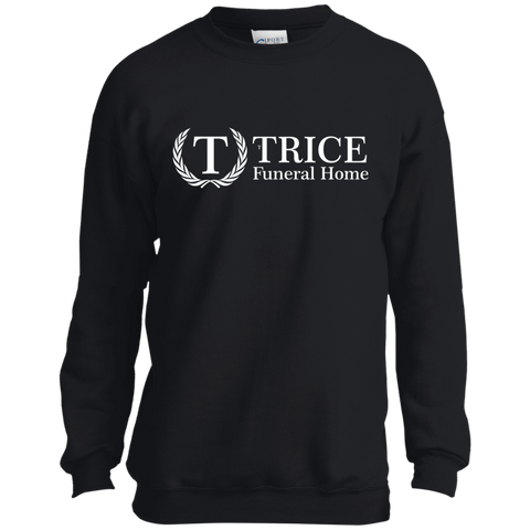 Trice Funeral Home PC90Y Port and Co. Youth Crewneck Sweatshirt