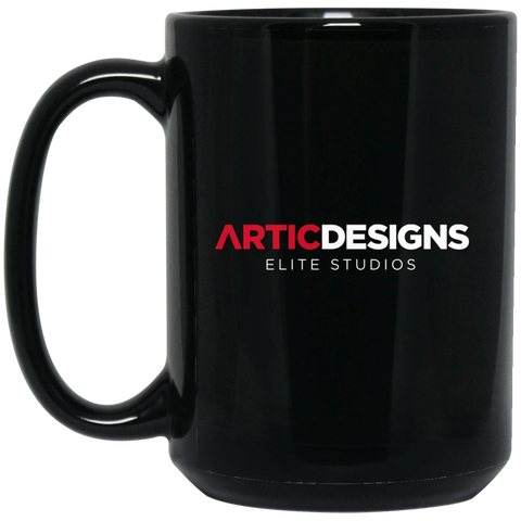 Artic Designs BM15OZ 15 oz. Black Mug