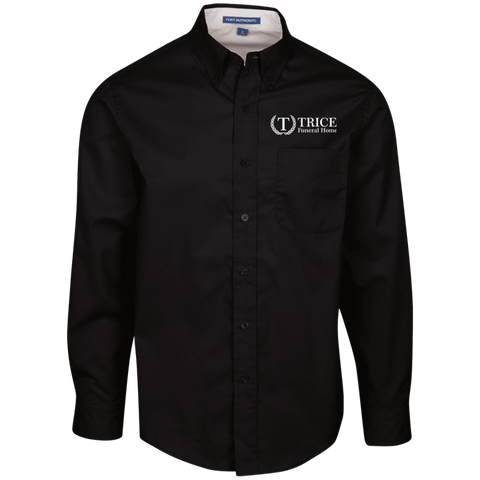 Trice Funeral Home TLS608 Port Authority Tall LS Dress Shirt