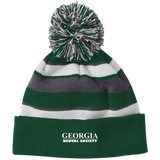 Georgia Dental Society (GDS) 223835 Holloway Striped Beanie with Pom