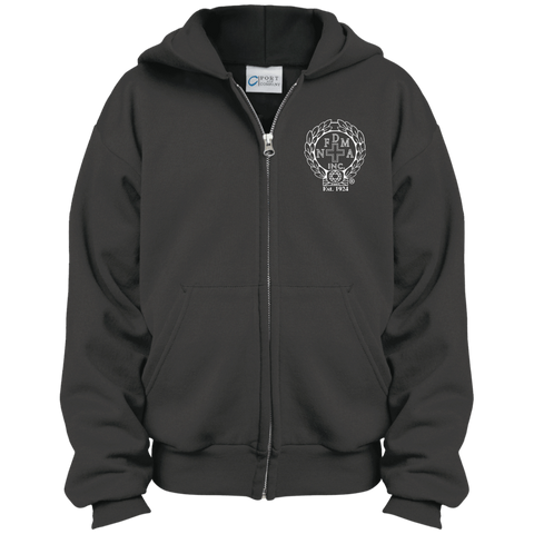 NFD&MA PC90YZH Port & Co. Youth Full Zip Hoodie