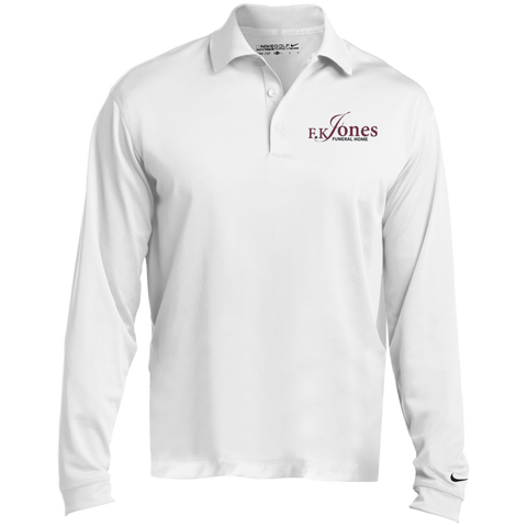 FK Jones Funeral Home 466364 Nike Long Sleeve Polo