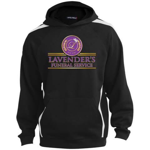 Lavenders Funeral Service YST265 Sport-Tek Youth Sleeve Stripe Hooded Pullover