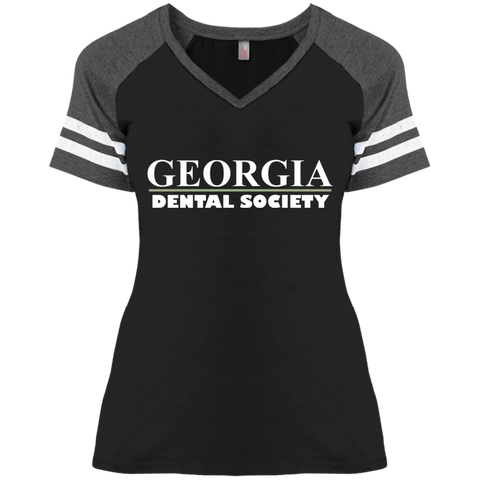 Georgia Dental Society (GDS) DM476 Disctrict Ladies' Game V-Neck T-Shirt