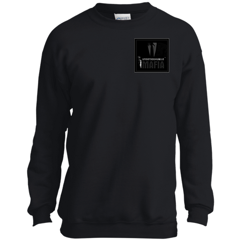 UnderdogHUSTLE Mafia PC90Y Port and Co. Youth Crewneck Sweatshirt