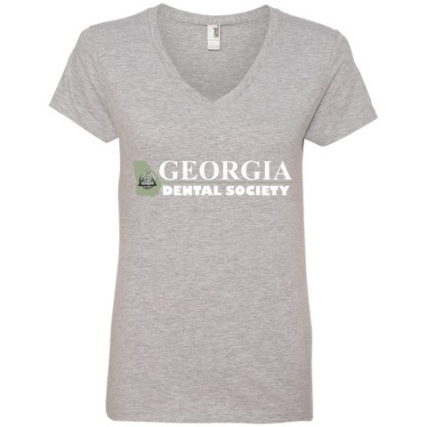 Georgia Dental Society (GDS) 88VL Anvil Ladies' V-Neck T-Shirt