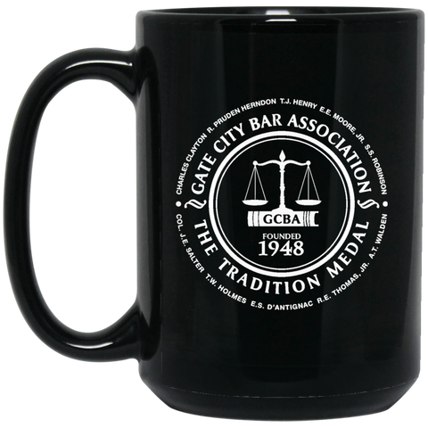 Gate City Bar Association BM15OZ 15 oz. Black Mug