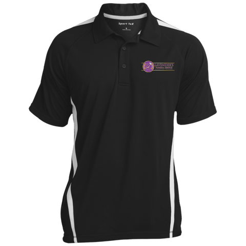 Lavenders Funeral Service ST685 Sport-Tek Men's Colorblock 3-Button Polo