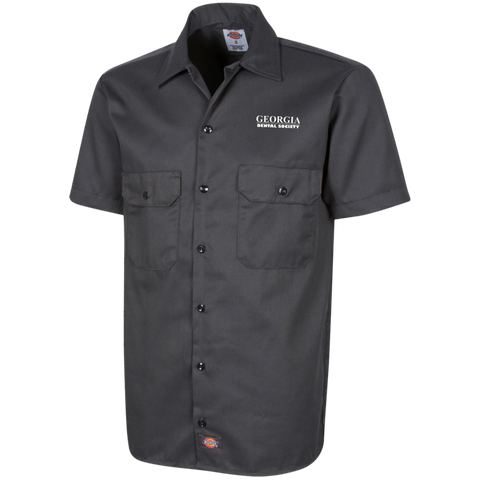 Georgia Dental Society (GDS) 1574 Dickies Men's Short Sleeve Workshirt