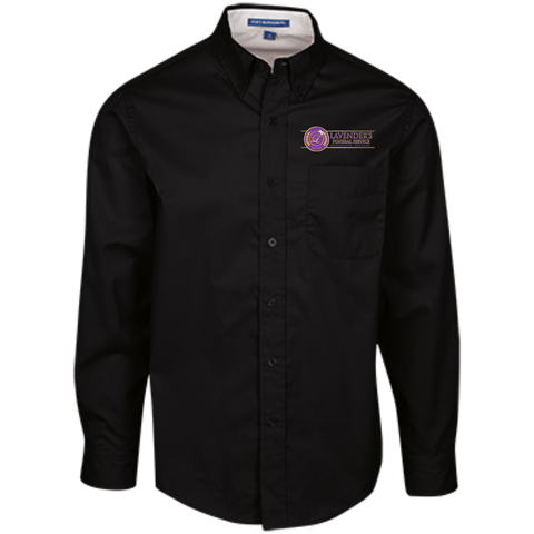 Lavenders Funeral Service TLS608 Port Authority Tall LS Dress Shirt