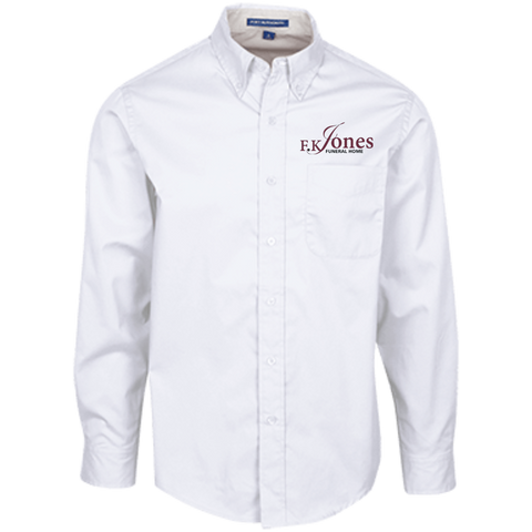 FK Jones Funeral Home S608 Port Authority Men's LS Dress Shirt