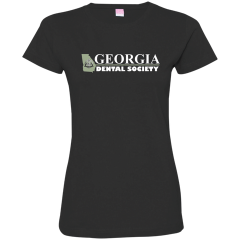Georgia Dental Society (GDS) 3516 LAT Ladies' Fine Jersey T-Shirt