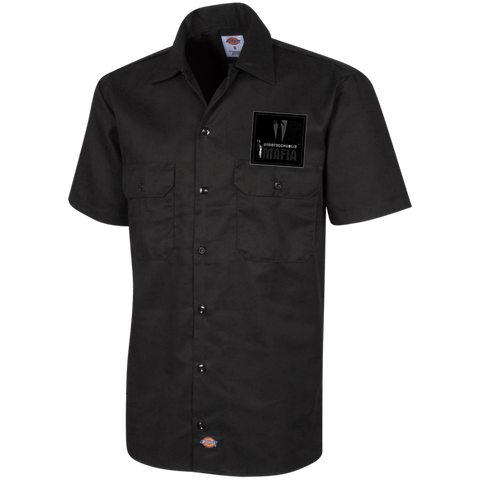 UnderdogHUSTLE Mafia 1574 Dickies Men's Short Sleeve Workshirt