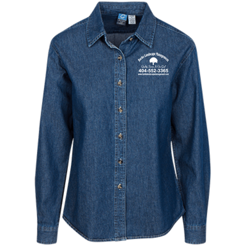 Burke Landscape Management LSP10 Port Authority Women's LS Denim Shirt