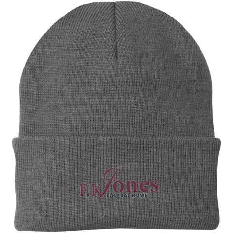 FK Jones Funeral Home CP90 Port Authority Knit Cap