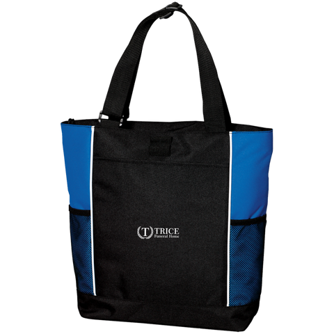 Trice Funeral Home B5160 Port Authority Colorblock Zipper Tote Bag