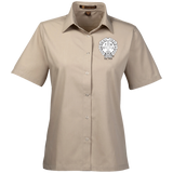 NFD&MA M545W Harriton Ladies' Snap Closure Short-Sleeve Shirt