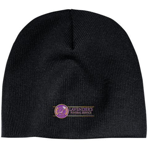 Lavenders Funeral Service CP91 100% Acrylic Beanie