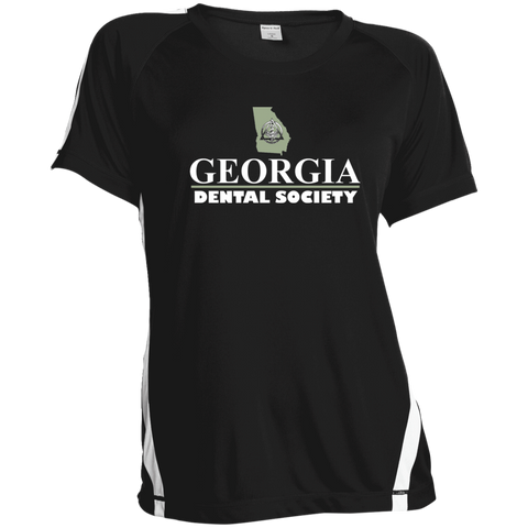 Georgia Dental Society (GDS) LST351 Sport-Tek Ladies' Colorblock Polyester T-Shirt
